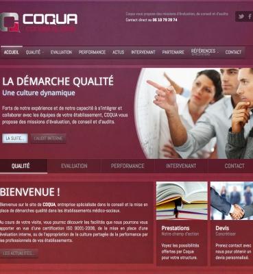Création de site web : Coqua