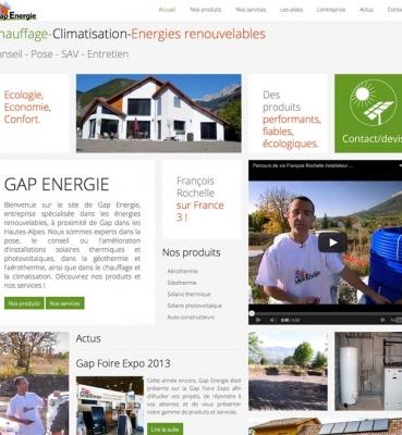 Création de site internet : Gap Energie