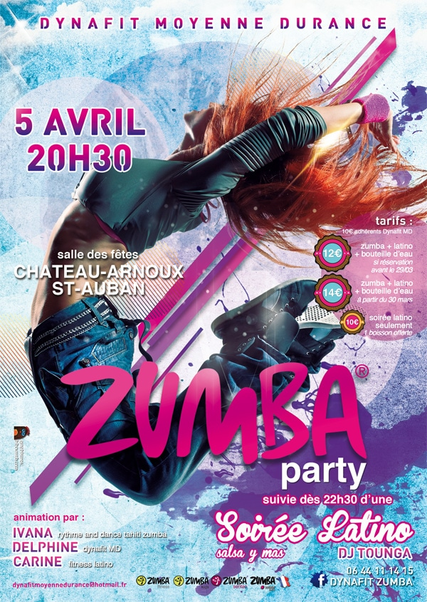 flyer zumba party