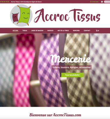 Accroc Tissus : boutique en ligne