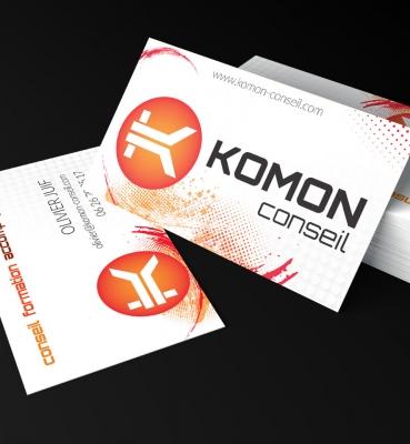 Cartes de visite Komon Conseil