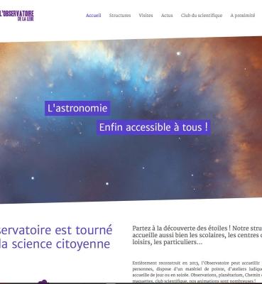 Création du site de l'observatoire de la Lèbe
